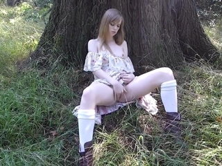 Solo masturbation in forest 2