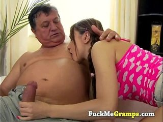 She really likes the old man