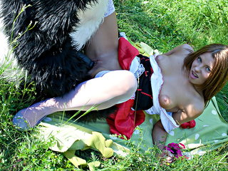 Red Riding Hood fucked outdoors