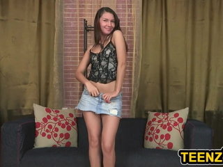 Brown-haired Teenage In High-heeled slippers Assfucking Smashed