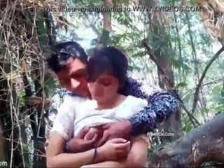 INDIAN Gf Breasts PRESS AND Smooch OUTDOOR JUNGLE