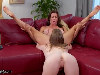 MommysGirl Busty Brat Blackmails her Step-MILF Alexis for Cooter