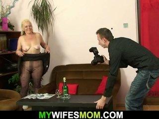 Senior mommy inlaw taboo drill