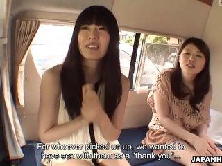 Chinese chicks, Shiori and gf uncensored
