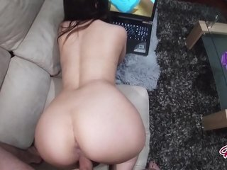 Tiny sister-in-law observing Hentai lets stepbrother pummels her vag ( creampie )
