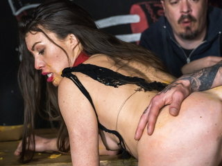 FORBONDAGE Teen Babe Tiffany Lady Rails Enormous Fuckpole In BDSM Fuck-a-thon