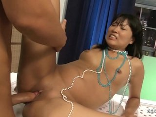 Wild step-mother in stockings uses a fake penis