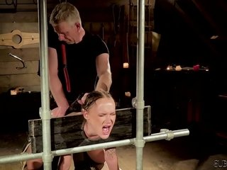Torrid sadism & masochism hookup for teenage slave getting penalized and drilled