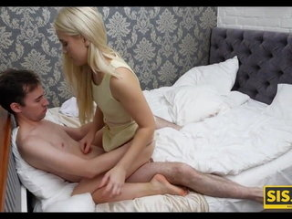 SIS.PORN. Blonde beauty enjoys to gargle stepbros dinky and wants