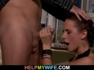 Aged cut corners watching murky get hitched gives him hot blowjob