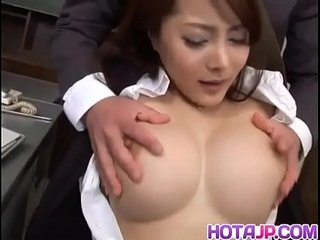 Mei Sawai up beamy tits is fucked about beaver