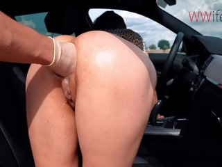 Anal Fisting - Blonde together in XXX wife moans in wonder as she gets her asshole fisted.