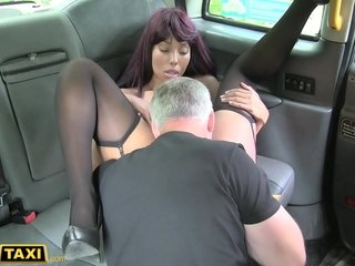 Fake Taxi Pretty Menacing Teen from London obese irritant with the addition of parsimonious pussy gets creampie