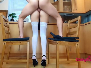Hot Anal all round the kitchen, appropriately lady-love